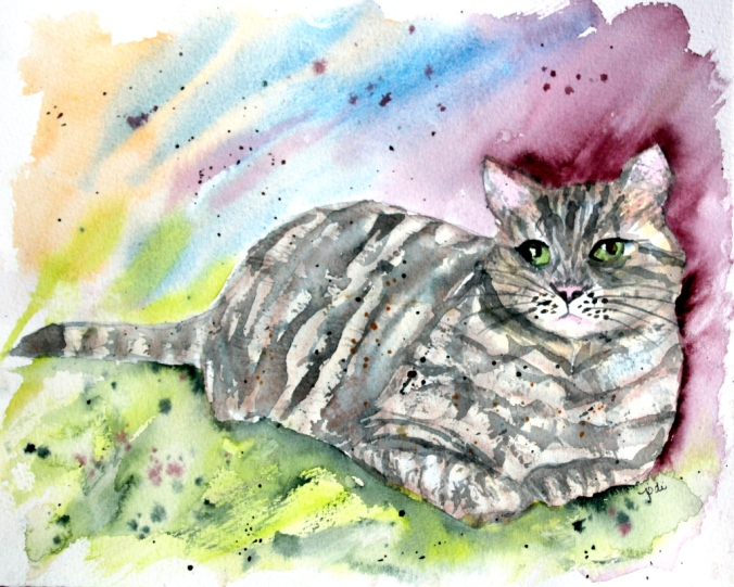 dewey-the-cat-moonbeam-farm-in-watercolor-8x10-140lb-saunders-hot-press