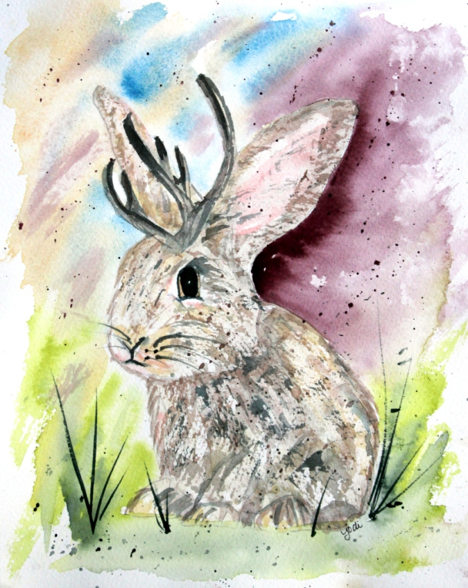jaxon-the-jackelope-moonbeam-farms-8x10-watercolor-on-140lb-saunders-hot-press