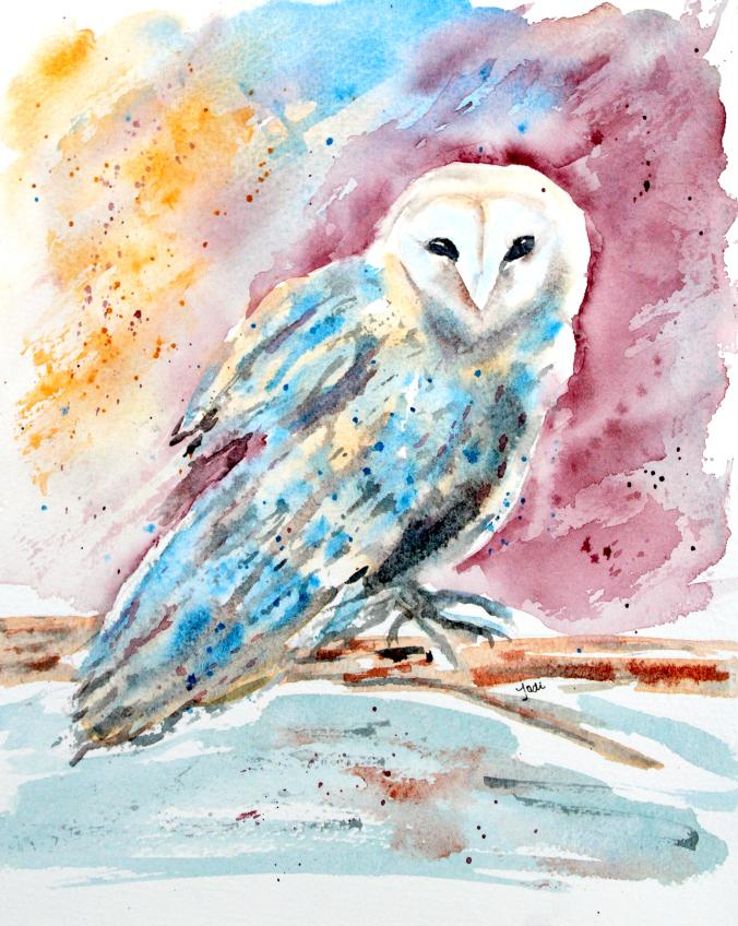 odessa-the-barn-owl-watercolor-8x10-140-lb-cold-press-saunders