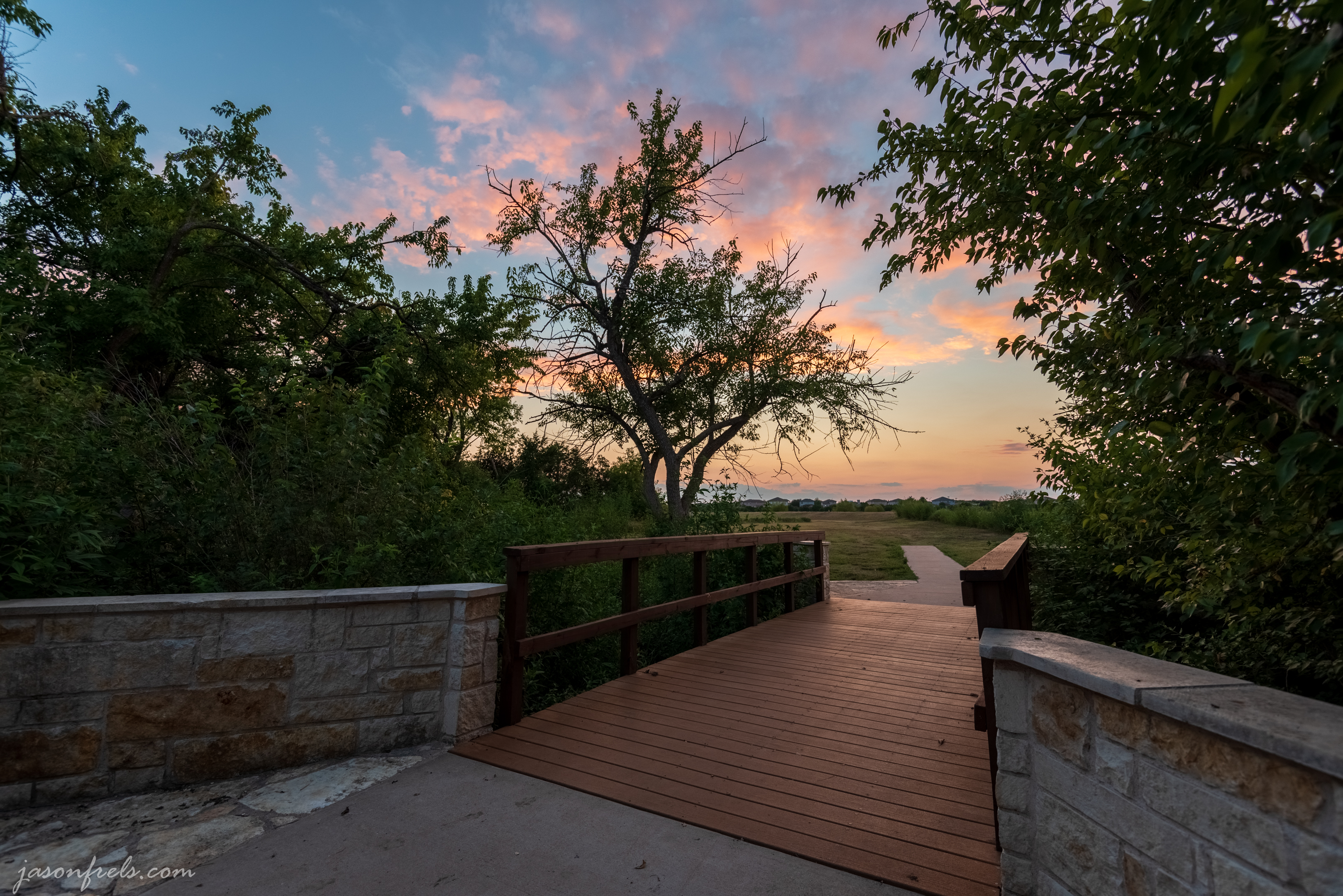 sunset-at-foot-bridge